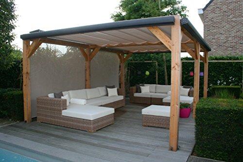 Sonnenschutz, Pergola tuch, Schiebedach, LuxxOut Solem 320 x 400 cm Standardmaß