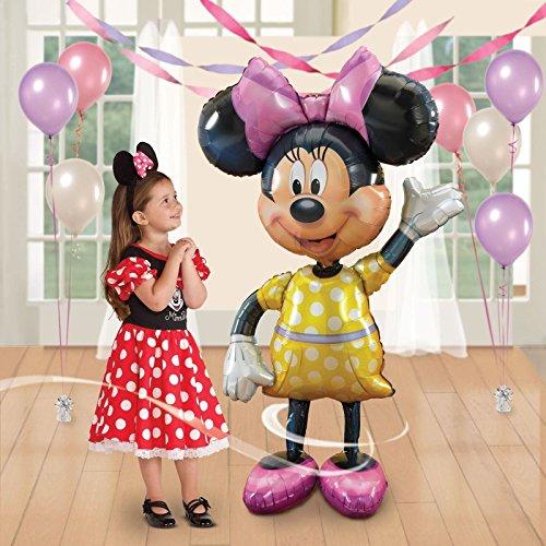 Gran vida tamaño 52'Disney Minnie Mouse Airwalker globo de helio de niños fiesta de cumpleaños Decoración