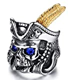 Best Man Bachelor Hats - YABEINI Jewelry Retro Stainless Steel Silver Polished Rhinestone Review