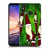 Head Case Designs Decorazione di Natale Babbo Natale Magro Cover Retro Rigida per Xiaomi Mi Max 3