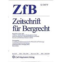 ZfB - Zeitschrift für Bergrecht [Jahresabo]