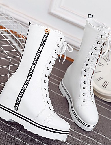 ShangYi Mode Frauen Schuhe Damenschuhe Keile / Plattform / Fashion Stiefel Outdoor / Büro & Karriere / Casual Plattform &W1-5 Schwarz
