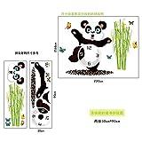 YUSDK Reloj Creativo Autoadhesivo Panda Lindo Pegatinas de Pared Grande Mural 30X90