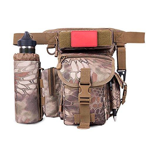 ZHANGRONG- Outdoor Beinbeutel Multifunktions-Taschen Männer Tarnungs-Freizeittasche Outdoor-Reittasche Kamera Tasche (Mehrfache Farben vorhanden) 8