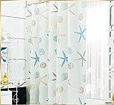 DYFYMX Wasserdichter Duschvorhang Mildew Wasserdicht Duschvorhang, Verdickte Set Freistoß, WC-Trennvorhang, Badezimmervorhang. (größe : 180 * 220cm)