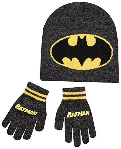 Boys Kids Batman Winter Hat And Gloves Set