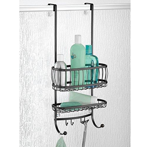 mdesign duschablage zum hngen ber die duschtr praktisches duschregal ohne bohren aus metall 2 - Duschzubehor Zum Hangen