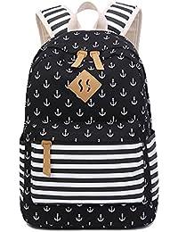Lona Backpack Mochilas Escolares Mochila Escolar Casual Bolsa Viaje Mujer Rayas