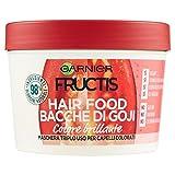 Garnier Fructis Hair Food Bacche di Goji Maschera Nutriente 3 in 1 con Formula Vegana per Capelli Colorati, 390 ml