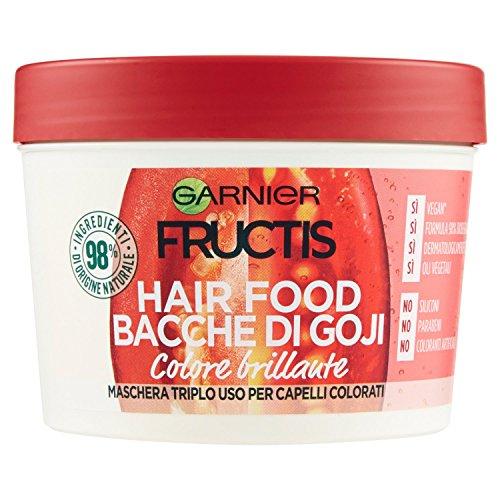 Scheda dettagliata Garnier Fructis Hair Food Bacche di Goji Maschera Nutriente 3 in 1 con Formula Vegana per Capelli Colorati, 390 ml
