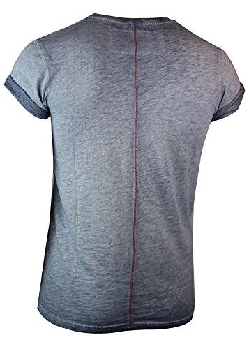 trueprodigy Casual Herren Marken T-Shirt mit Aufdruck, Oberteil cool und stylisch mit Rundhals (kurzarm & Slim Fit), Shirt für Männer bedruckt Farbe: Blau 1063132-4014 Ombre Blue