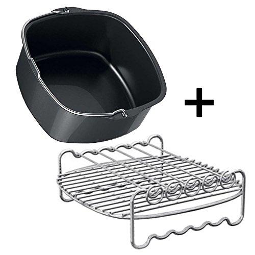 Philips HD9220 HD9230 HD9240 Genuine Air Fryer Double Layer Shelf Rack + Baking Pan