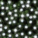 Galaxy's SPV Solar - 200 Luces brillantes decorativas, blanco brillante