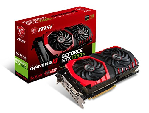 MSI GTX 1080 TI 11GB GeForce GTX 1080 Ti 11GB GDDR5X Scheda grafica NVIDIA, GeForce GTX 1080 Ti, 1569 MHz, 2-Way SLI, 1683 MHz, 11 GB