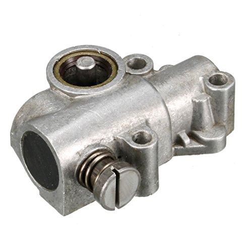 sourcing map Pompa olio ingranaggio cilindrico ruota per Stihl 381 Motosega tono argento
