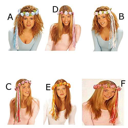 Widmann s.r.l.., Corona D Blumen und Bändern PINK Fuchsia (Corona Kostüm)
