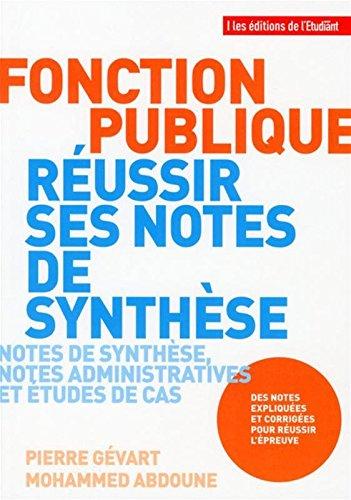 Fonction publique - Russir ses notes de synthse