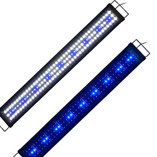 Aquarien Eco Aquarium Beleuchtung Fisch Tank Aufsetzleuchte Blau Weiß LED Lampe Leuchte 90-115cm 18W