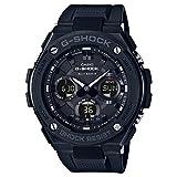 CASIO Herren Analog-Digital Uhr mit Harz Armband GST-W100G-1BER