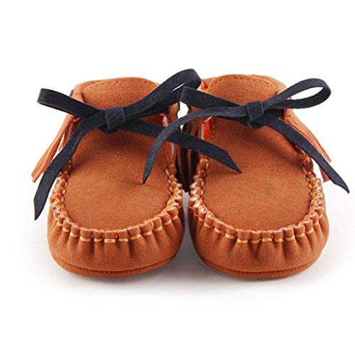 Winter Babyschuhe Jamicy® Baby-weiche Schuhe Soft-Krippe Schuhe Kleinkind Stiefel Winter warme Schuhe Boots (12~18 Monat, Watermelon Red) Braun