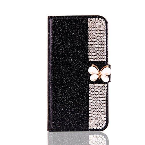 Custodia samsung galaxy s6 edge g9250 brillantini glitter premium pu glitterata [stand flip] [slot per schede] [stile libro] custodia a portafoglio custodia luxury cover con chiusura magnetica