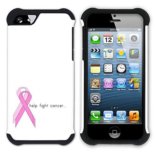 Graphic4You Keep Calm I'm a Cancer Survivor Design Hart + Weiche Kratzfeste Hülle Case Schale Tasche Schutzhülle für Apple iPhone SE / 5 / 5S Design #1