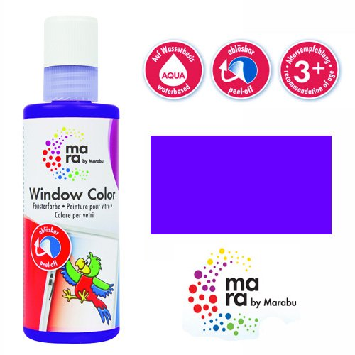mara by Marabu Window Color, 80 ml, violett VE = 1