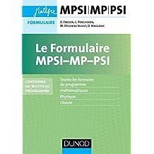 Le formulaire MPSI-MP - 5e éd. - Conforme au nouveau programme: nouveaux programmes 2013-2014