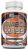 Anabol Mass Nitric Oxide Supplement - Premium Muskelaufbau Nitric Oxide Booster mit A-AKG und A-KIC, Arginin, Citrullin, Koffein