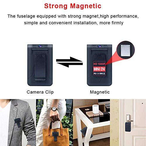 MENRAN Mini-Kamera WiFi HD 1080P Videorecorder WD7 Winzig kleine drahtlose Überwachungskameras mit Nachtsicht, Bewegungserkennung, Remote View fo Smartphone
