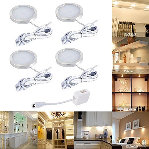Faretti LED sottopensile luce calda with 12 LEDs, Set di 4 10W Luci ...