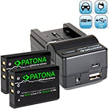 Patona Ladegerät 4 in 1 fuer Fuji NP-95 mit 2x PREMIUM Akku (1800mAh, 100% kompatibel) zu - Fujifilm Finepix X30 X70 X-S1 X100 X100s X100T F30 F31 ..
