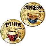 Zwei magnets, Kaffee
