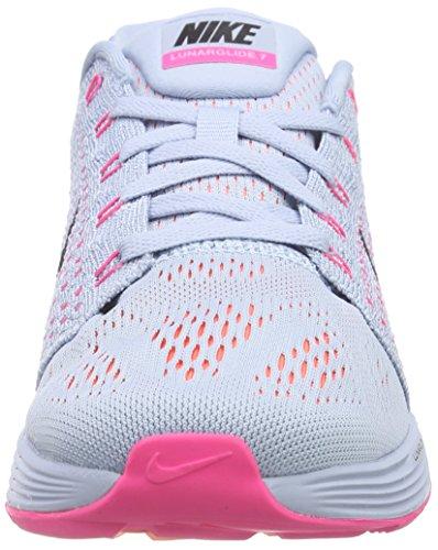 Nike Lunarglide 7 Damen Laufschuhe Grau (Light Armory Blue/Black/Bright Citrus)