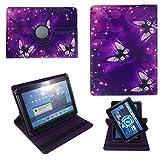 LILA Schmetterling Sterne Schutz Hülle Tablet Tasche Etui für Jay-Tech / CANOX Tablet PC 101