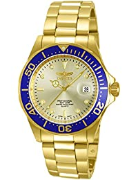 Invicta Pro Diver Unisex Wrist Watch Stainless Steel Quartz Gold Dial - 14124