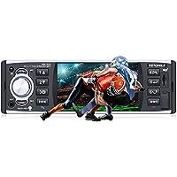 VETOMILE - Autoradio, Auto Spieler, mit 4 Zoll Touchscreen, FM/AM/RDS, USB, SD-Karte unterstützt, Lenkradsteuerung, Rückfahrkamera, Aux in, DVR, Fernbedienung, Freisprecheinrichtung, für Auto PKW