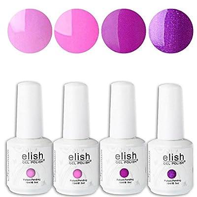 Frenshion Soak-off UV LED Gel Nail Polish Color Gel Nail Art Manicure Kit (15ML/pc Lot of 4)
