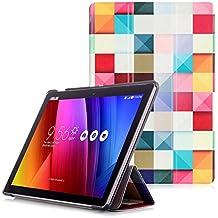 ASUS ZenPad 10 Z300M / Z300C Funda - Carcasa Ultra Delgado y Ligero con Cubierta Función de Despertador / Reposo Automático para ASUS ZenPad 10 Z300M / Z300C 10,1 Pulgadas Tablet, Cubo Colores
