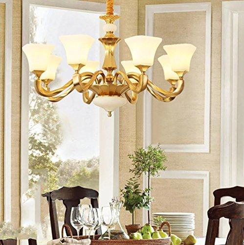 Tall, Kronleuchter (Vollständige Kupfer Kronleuchter modernen einfachen Wohnzimmer Schlafzimmer Nachttisch Lampe WC Spiegel vorne Lampe Gang Korridor Lichter , light source)