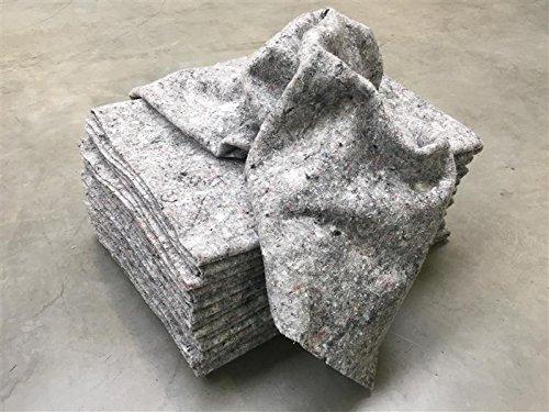 10x Packdecken - grau, 130x190cm ✓ Verrotten nicht ✓ Made in Germany ✓ Strapazierfähige Möbeldecken | Hochwertige Umzugsdecken, Möbelpackdecken aus Recycling-Material | Transport-Decken zum Schutz für Möbel | Allzweckdecken für Umzug und Einlagerung thumbnail