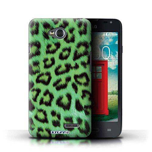 Kobalt® Imprimé Etui / Coque pour LG L65/D280 / Pourpre conception / Série Peau de Léopard Animal Vert