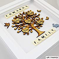 Personalised Scrabble Frame - Family Tree