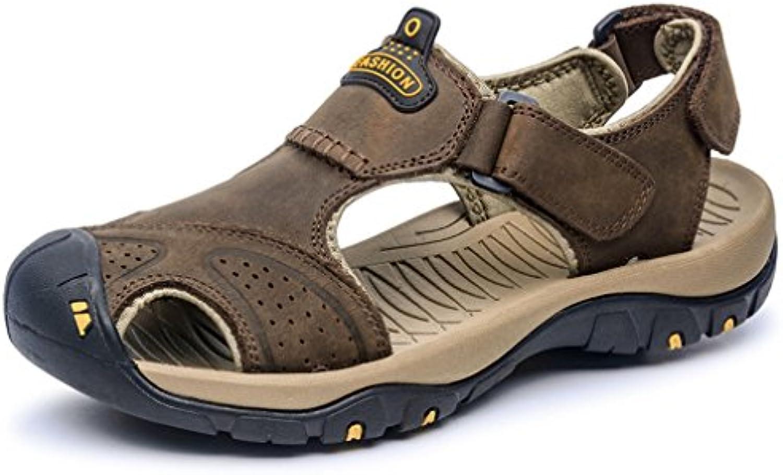 Xianshu Hommes s Sports  s Plein d'été Cuir Fermé-Toe  s en Plein s Air Chaussures De Ran ée Chaussures De...B07FCVLZZ7Parent ace355