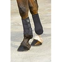 Cepillo de aire cerrada Ekkia Jumptec neopreno botas de caballo tendón Negro negro Talla:large caoMRM