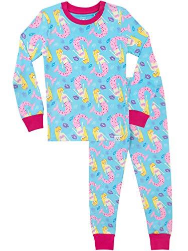 Harry Bear Mädchen Meerjungfrau Schlafanzug Slim Fit Blau 122 (Mädchen 6 Pj Größe)