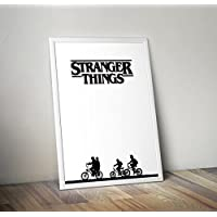Stranger Things Poster, Stranger Things, Netflix, Stranger Things Print, Stranger Things Art, Eleven, Hawkins, The Upside Down, Barb, Will.Size A4, 8.3 x 11.7 inches.