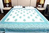 Touch Feel Cotton Double Bedsheet with T...