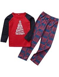 Kanlin1986 Pijamas Navidad para Familias para Mujer Hombre NiñO Bebé Conjuntos Familiares Navidad,Suave Comodo Y Agradable