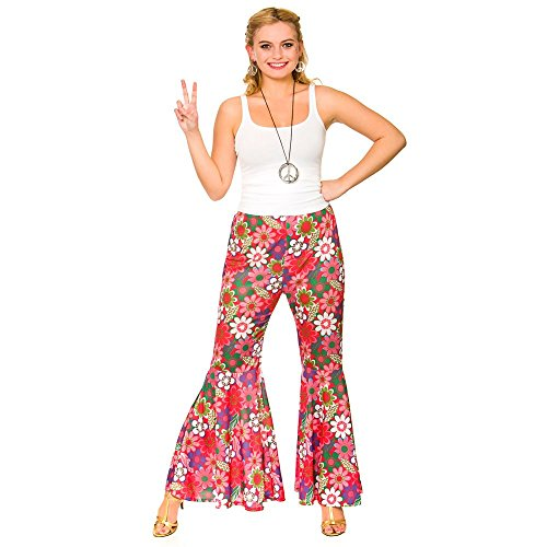 Adult Female Flower Power Hippie Pants. Sizes 10 to 20
